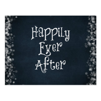 Happily Ever After Wedding or Anniversary Postcard