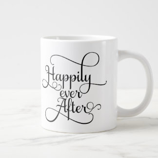 Happily Ever After, Wedding or Fairytale Large Coffee Mug