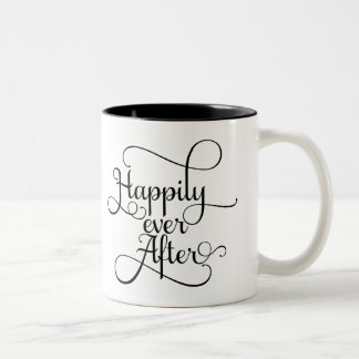 Happily Ever After, Wedding or Fairytale Two-Tone Coffee Mug