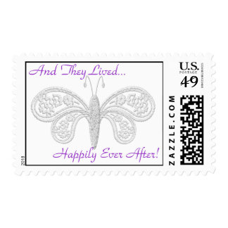 HAPPILY EVER AFTER WEDDING POSRAGE STAMPS