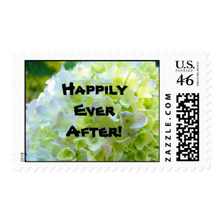Happily Ever After! Wedding postage Flowers stamps