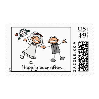 Happily Ever After wedding stamps