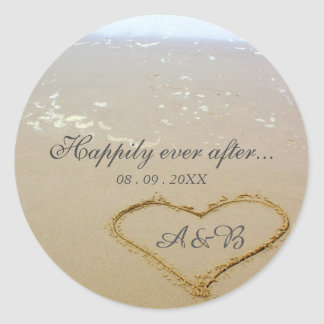 Happily Ever After Wedding Sticker