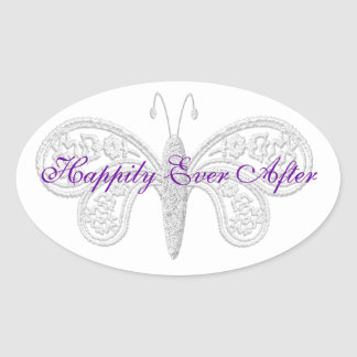 Happily Ever After Wedding Stickers seals