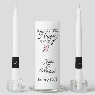 Happily Ever After Wedding Unity Candle Set