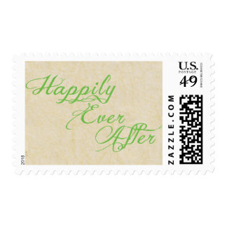 Happily Ever After Wedding Vintage Rustic Postage