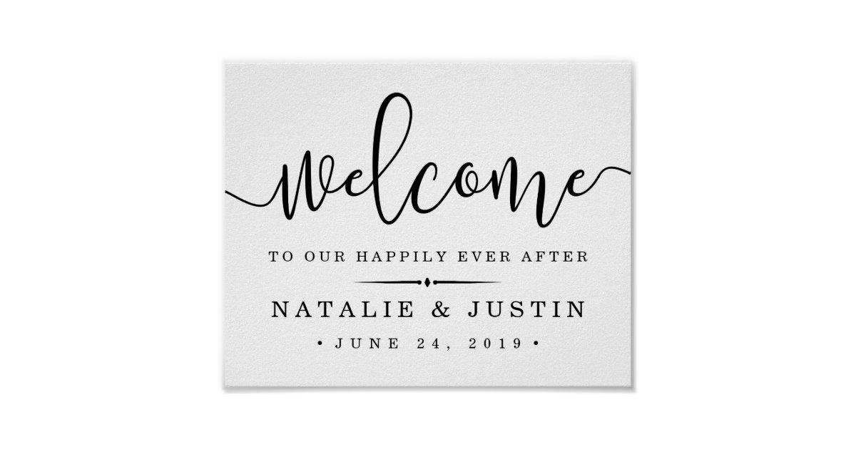 Happily Ever After Wedding Invitations: Wedding Welcome Sign