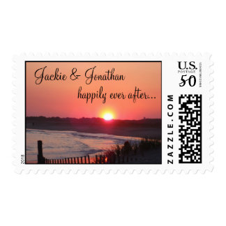Happily Ever After (with Names) * Cape May Sunset Postage