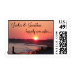 Happily Ever After (with Names) * Cape May Sunset Postage Stamps