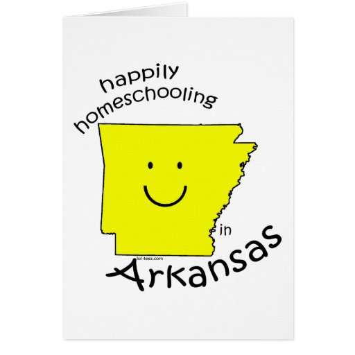 Happily Homeschooling in Arkansas Greeting Card