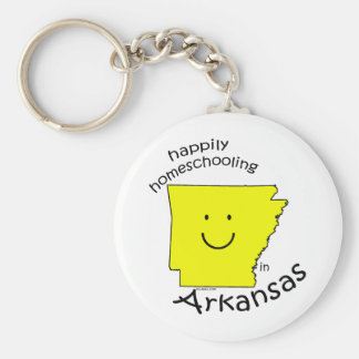 Happily Homeschooling in Arkansas Basic Round Button Keychain