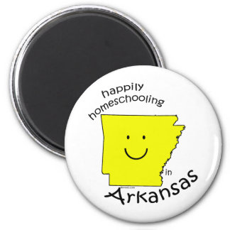 Happily Homeschooling in Arkansas 2 Inch Round Magnet