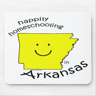 Happily Homeschooling in Arkansas Mouse Pads
