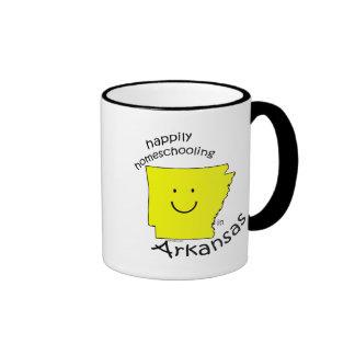 Happily Homeschooling in Arkansas Ringer Coffee Mug
