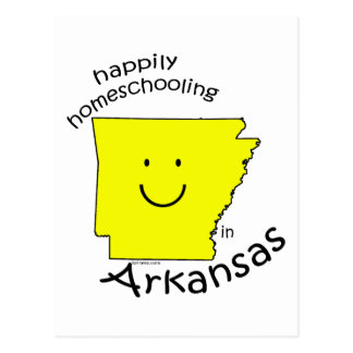 Happily Homeschooling in Arkansas Postcard
