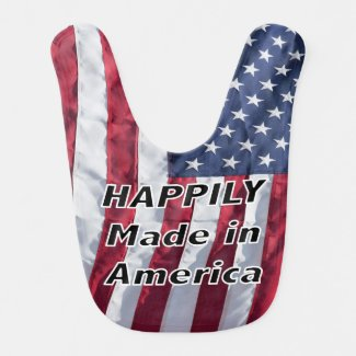 Happily Made In America Baby's Bib