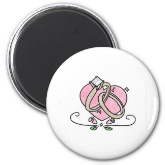 Happily Married 2 Inch Round Magnet