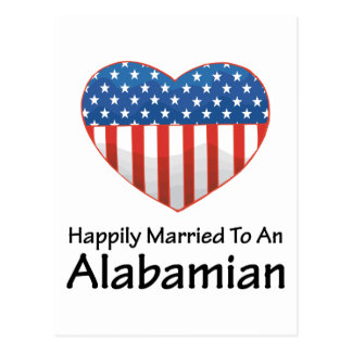 Happily Married Alabamian Postcard