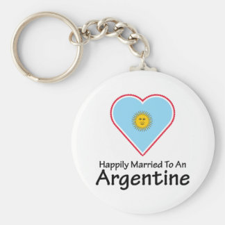 Happily Married Argentine Keychain