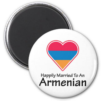 Happily Married Armenian 2 Inch Round Magnet