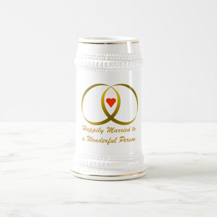 Happily Married Beer Stein