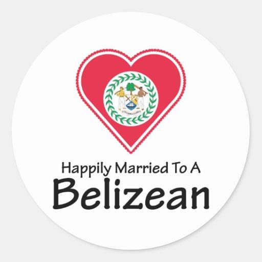 Happily Married Belizean Stickers
