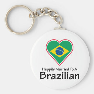 Happily Married Brazilian Keychain
