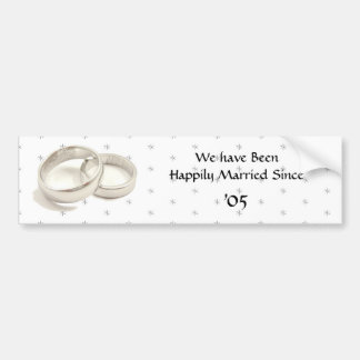 Happily Married Car Bumper Sticker