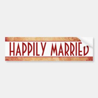 Happily Married Bumper Sticker Car Bumper Sticker