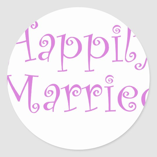 Happily Married Classic Round Sticker