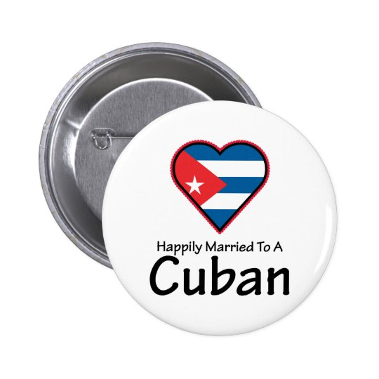 Happily Married Cuban Pinback Button