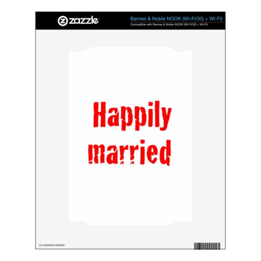 happily married decal for the NOOK