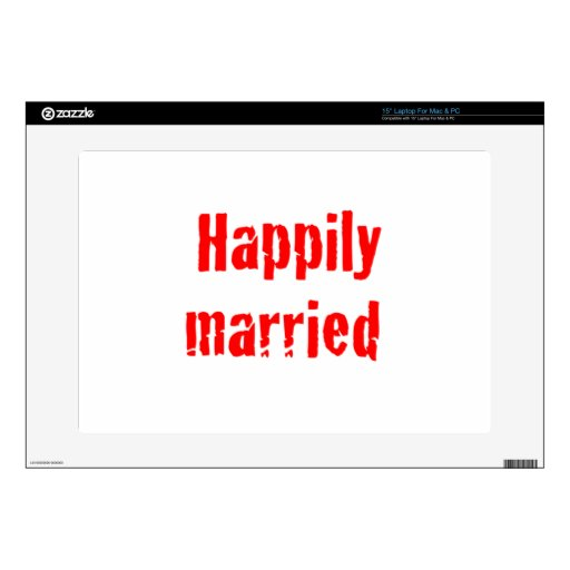 happily married decals for laptops