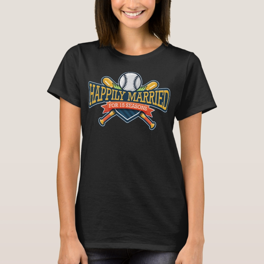 Happily Married For 15 Seasons T-Shirt - Best Selling Long-Sleeve Street Fashion Shirt Designs