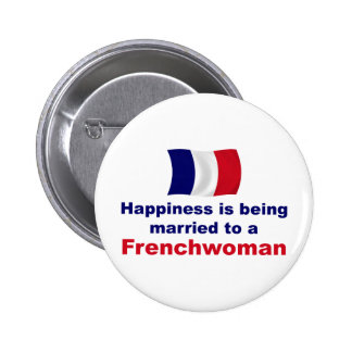 Happily Married Frenchwoman Button