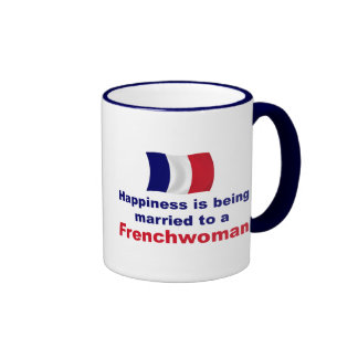 Happily Married Frenchwoman Ringer Coffee Mug
