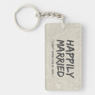 Happily Married Funny keychain