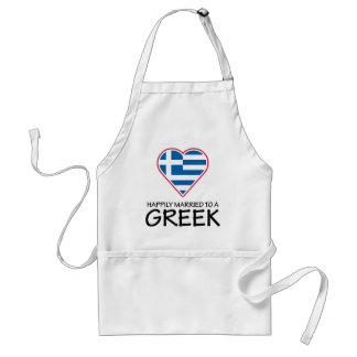 Happily Married Greek Adult Apron