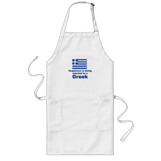 Happily Married Greek Long Apron