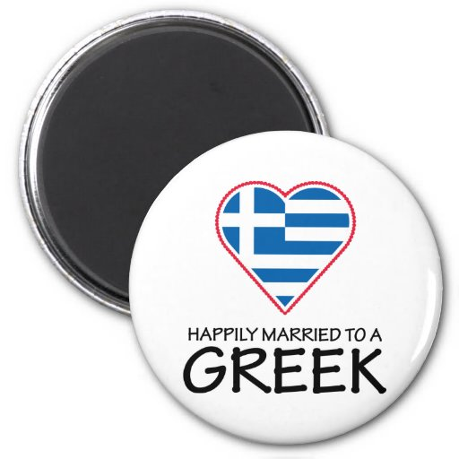 Happily Married Greek Magnets