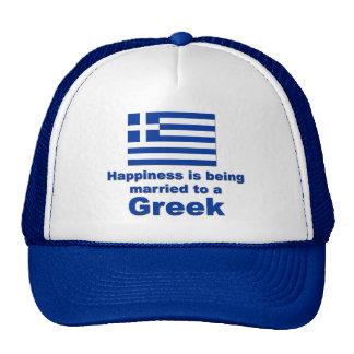 Happily Married Greek Trucker Hat