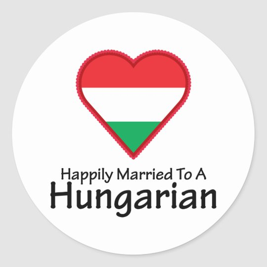 Happily Married Hungarian Classic Round Sticker