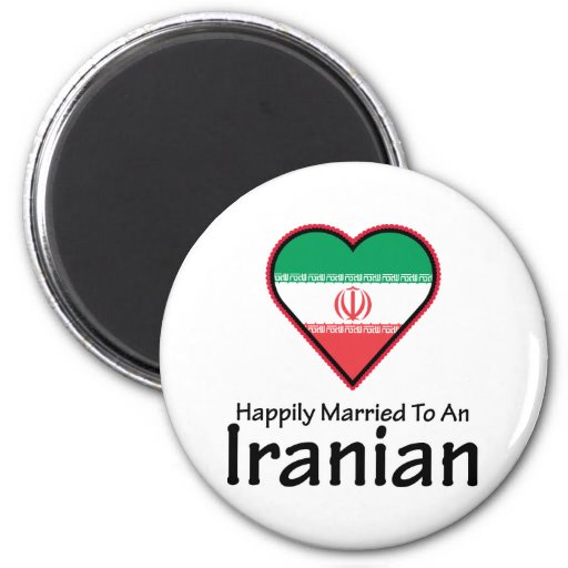 Happily Married Iranian 2 Inch Round Magnet