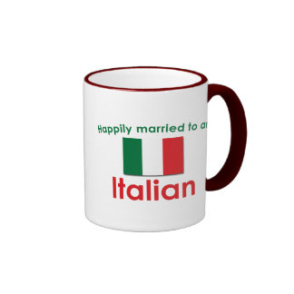Happily Married Italian Ringer Coffee Mug