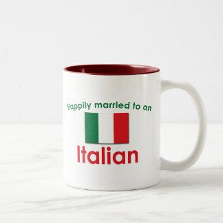 Happily Married Italian Two-Tone Coffee Mug