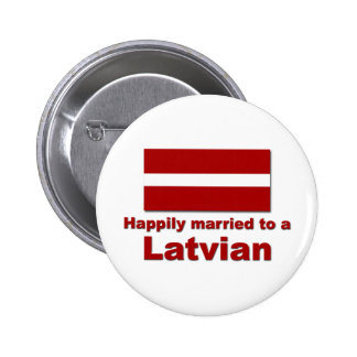 Happily Married Latvian Pinback Button