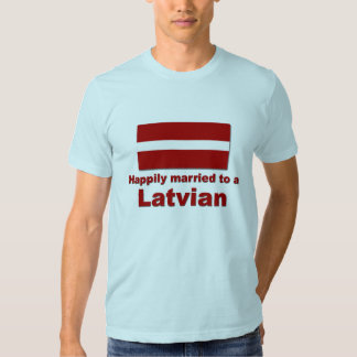 Happily Married Latvian T Shirts
