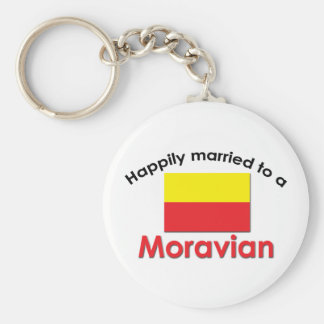 Happily Married Moravian Key Chain