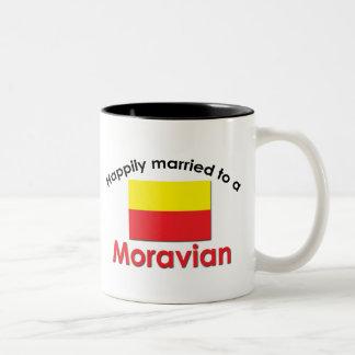 Happily Married Moravian Two-Tone Coffee Mug
