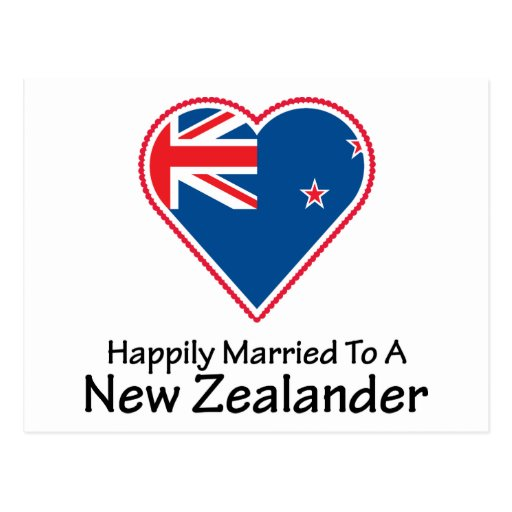 happily married New Zealander Postcard